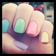 The 43 Most Amazing Manicures On Instagram. (via buzzfeed)  I want all of these colors!