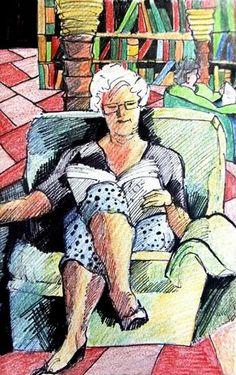 looks like my grandma by Rae Andrews, http://readingandart.blogspot.fr/2012/05/rae-andrews.html