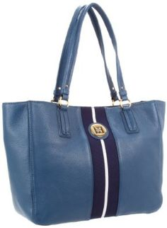 Tommy Hilfiger Th Logo Pebble Leather East West Tote