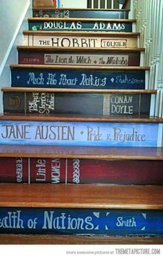 Putting your favourite books would definitely add a personal touch to your home