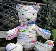 Teddy Bear Selvages Heirloom Bear by bungalowquilts on Etsy, $55.00