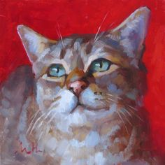 """Kossie"" - 8x8"" oil painting www.marniehanlon.com"