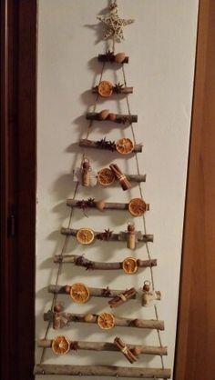 Come fare albero di natale con legnetti