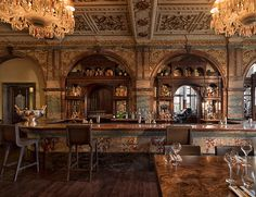 The elegant yet unassuming exterior of this former Victorian gin palace, which has been re-imagined for modern visitors, belies its opulent interior.