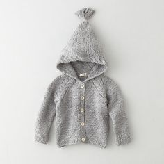 toddler pom pom hooded cardigan