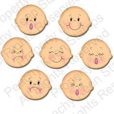 PK-0541 Funshine Faces 1-1/8th inch