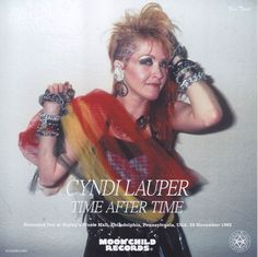 Cyndi Lauper wearing a stack of punk-influenced studded and chain bracelets on each arm 80s Fashion, Fashion Trends, Bubble Skirt, Cyndi Lauper, Acid Wash Jeans, Moon Child, Aerobics, Shoulder Pads, Fancy Dress