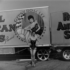 Unpublished shot of Burlesque star Gypsy Rose Lee in Memphis, Tenn., 1949.