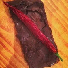 No bake fudgey chili brownies