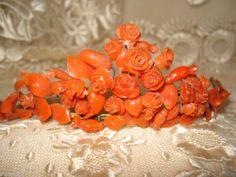 Authentic Antique Regency Coral Tiara Diadème Empire Biedermeier Diadem