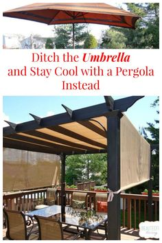 Instead Of Using A Patio Umbrella Switch To A Pergola ~ Youu0027ll Stay Much