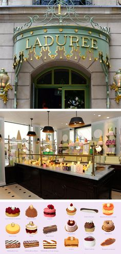The macarons are gluten-free, and the rest is simply gorgeous! #Laduree #Paris