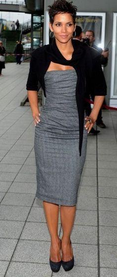 Hally Berry grey#dress