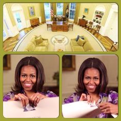 #FLOTUS. #MichelleObama tears up #WhiteHouse #photography #ban #July1st #2015 High shot of #OvalOffice The #president Oval Office, among the most famous rooms in the White House #Selfielovers will now be able to snap themselves in the US president's residence, after the White House lifted a decades-old ban on photography.