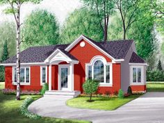 House Plan 65071   Bungalow Ranch Traditional Plan with 1104 Sq. Ft., 3 Bedrooms, 1 Bathrooms