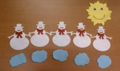 Five Little Snowmen Flannel Board Stories, Felt Board Stories, Felt Stories, Flannel Boards, Stories For Kids, Snowman Hat, Snowmen, Winter Fun, Winter Theme