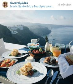 Santorini - breakfast with amazing view
