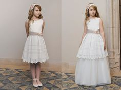 vestidos de comunión cortos Dresses For Tweens, Dresses Kids Girl, Tutus For Girls, Flower Girl Dresses, Prom Dresses, Formal Dresses, Myanmar Dress Design, Holy Communion Dresses, Weeding Dress