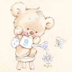 Cute illustrations  - Marina Fedotova - MF-06-blue
