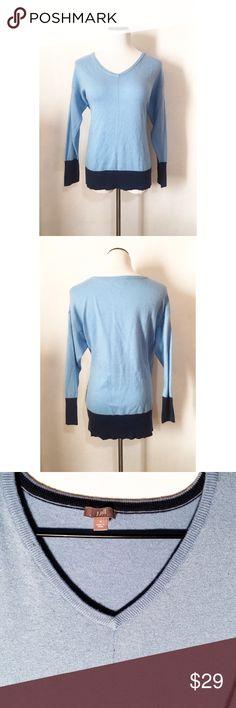 J. Jill sky blue sweater Size medium! Super cute and gorgeous sky blue! J. Jill Sweaters V-Necks