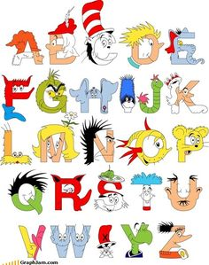 seuss alphabet - Teaching a young child can turn into quite the task and these framed Dr. Seuss Alphabet fine art prints by Mike Boon will keep rooms looking light . Dr. Seuss, Dr Seuss Abc, Alphabet Print, Alphabet Charts, Alphabet Soup, Alphabet Books, Alphabet Posters, Classroom Crafts, Classroom Design
