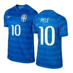 Nike Brasil Pele #10 World Cup 2014 Soccer Jersey (Away)
