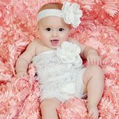 Zilly Bean White Rose Lace Pettiromper