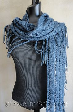 Sophisticated Boho Lace Eternity Scarf by SweaterBabe