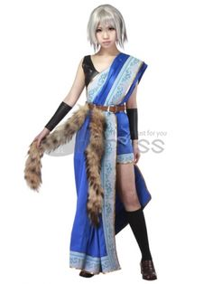Make you the same as Oerba Yun Fang in this cosplay costume for Final Fantasy XIII cosplay show.
