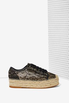 Windsor Smith Normandy Lace Espadrille Sneaker | Shop Shoes at Nasty Gal