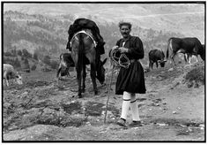 "GREECE. Metsovo. 1964. Shepherd in Foustanela. ""A Greek Portfolio"" p.26 © Costa Manos/Magnum Photos"