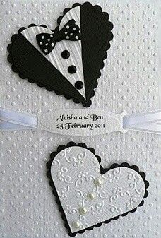 "Love Cards # 109 - Hearts/ Bride & Groom. Pictured Card Size 4"" x 6"" - $5.00 + Postage."