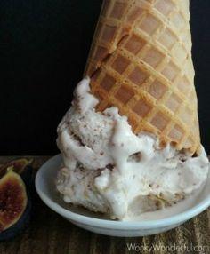 Fresh Fig Ice Cream Recipe ::: wonkywonderful.com