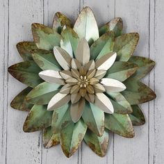Flower Metal Wall Art large metal flower wall art | bronze flower metal wall art bronze