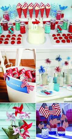 Fourth of July Patriotic Inspiration Board, Red White and Blue