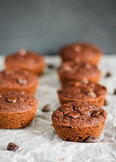 Double Chocolate Coconut Flour Muffins. These grain free muffins are incredible and packed with wholesome healthy ingredients.