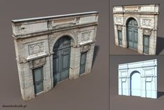 Door Portal Low poly 3d model by Cerebrate.deviantart.com on @deviantART