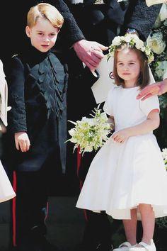 George &Charlotte at the Royal Wedding ♡