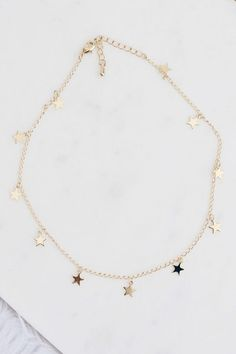 Gorgeous Hush Gold 3 Mini Star Choker Necklace Bargain! Jewelry & Watches