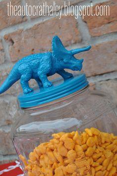 """Dinosaur """"Gold Fish"""" Jar"""