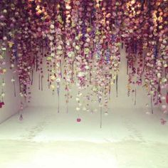 Fascinating Hanging Flowers Installations