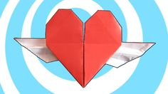 Origami Heart with wings instructions #origami #heart #paper #video #instructions #howto