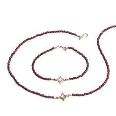Gorgeous in rose gold and garnet this necklace and bracelet set form part of the Anahita collection created by Andrea Eserin Jewellery. Delicate Jewelry, Unique Jewelry, Handmade Jewelry Designs, Bracelet Set, Fathers Day Gifts, Valentine Gifts, Garnet, Jewelry Collection, Rose Gold