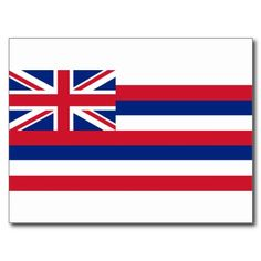 Hawaii Flag Post Cards #hawaiiflag #hawaii #aloha
