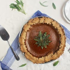 Butternut Squash Pie with Candied Sage | Lorimer Street Kitchen