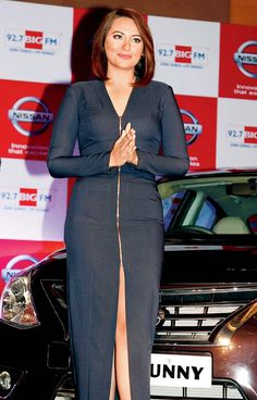Sonakshi Sinha seen at a car launch for Nissan. Bollywood Girls, Bollywood Actors, Bollywood Fashion, Sonakshi Sinha, Deepika Padukone, Most Beautiful Indian Actress, Western Dresses, Hottest Models, Beautiful Celebrities