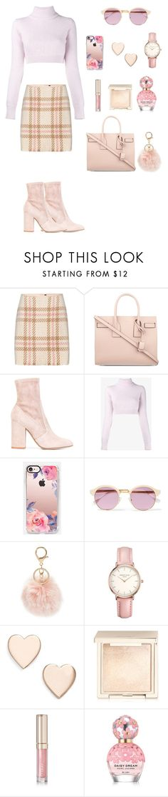 """""""Style #52"""" by maksimchuk-vika ❤ liked on Polyvore featuring MARC CAIN, Yves Saint Laurent, Valentino, Balmain, Casetify, Sheriff&Cherry, BP., Topshop, Poppy Finch and Jouer"""