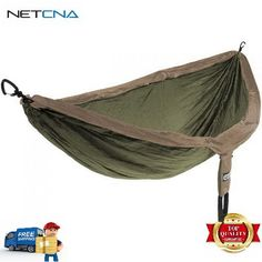 2-Person DoubleNest Hammock (Khaki/Olive) With Free 6 Feet NETCNA HDMI Cable - BY NETCNA ** You can get additional details at the image link.