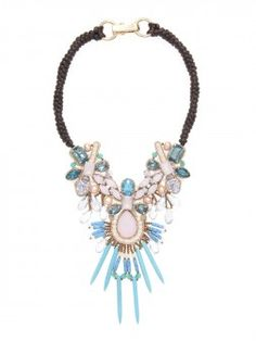 Tribal Postings Statement Necklace
