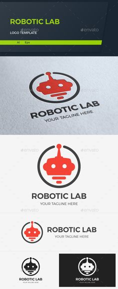 Robotic Lab Logo Template — Vector EPS #technology #logo • Available here → https://graphicriver.net/item/robotic-lab-logo-template/16776189?ref=pxcr